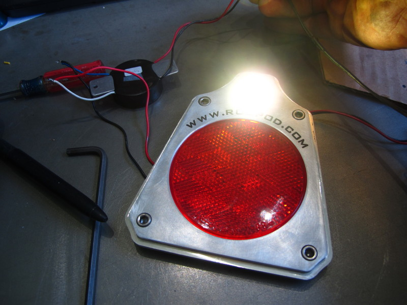 Trial run of Back up light