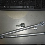 "12"" x 1/2-20 radius rods and 1/2"" Heims + polaris ball joint"