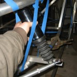 Front Suspension radius rod and shock position